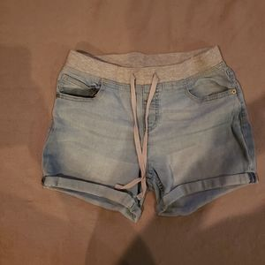 Justice Pull-On Jean Shorts Size 14plus